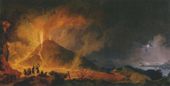 L'éruption du Vésuve - Pierre-Jacques Volaire (1802)