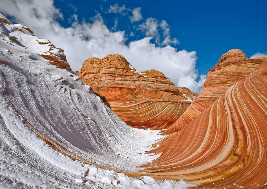 Neve su Coyote Buttes - Arizona