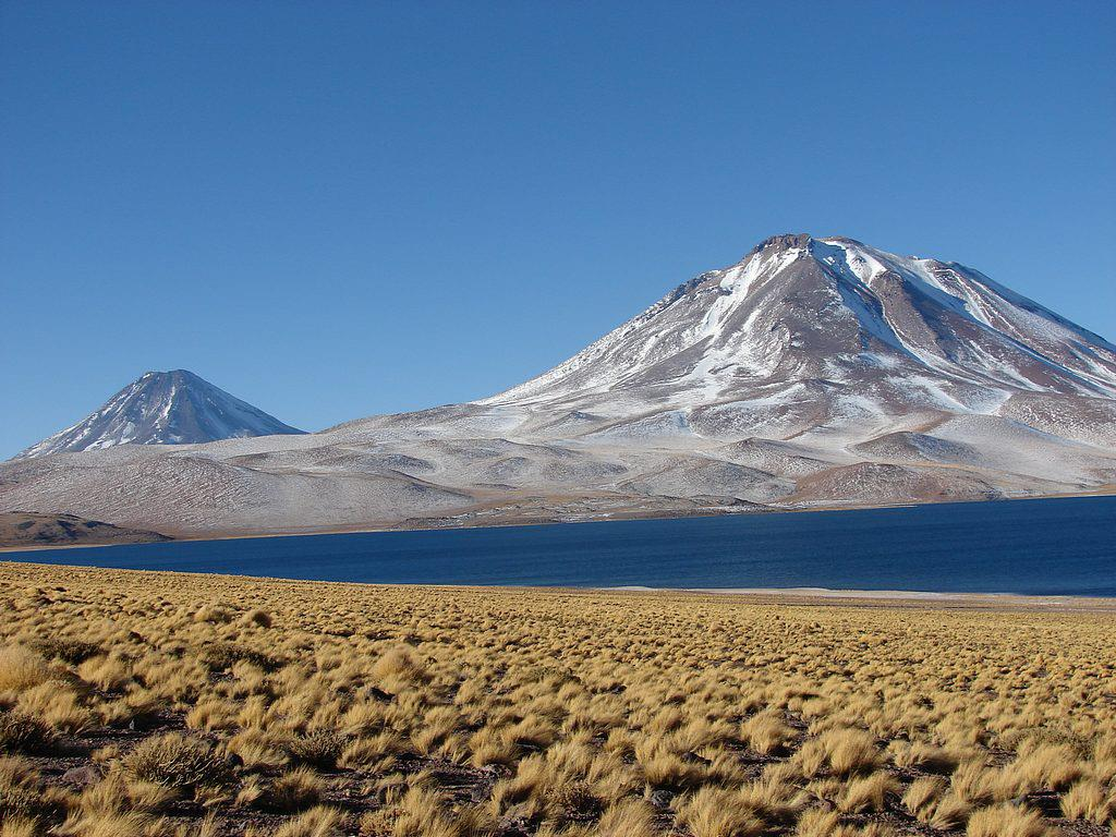 Volcans Parinacota et Pomerape, Parc National de Lauca - Chili