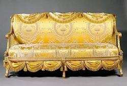 Banquette Louis XVI par George Jacob (1777)